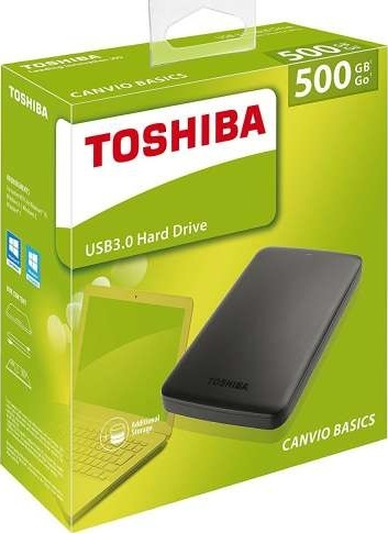 External HDD 2,5″  500Gb Toshiba HDTB405EK3AA Canvio Bsics Black USB 3.0