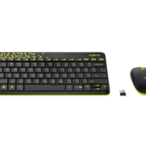 Keyboard & Mouse Logitech Wireless Desktop MK 240, MK Black+Chartreuse