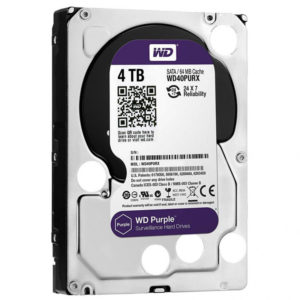 HDD 3,5″ 4 Tb SATA 64Mb Western Digital  WD40PURZ, Purple