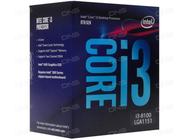 CPU Intel LGA1151 Core i3-8100 3,6GHz 6MB 65W box / BX80684I38100