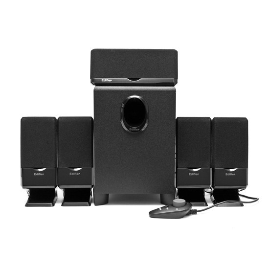 Speakers 5.1 Edifier M1550 Black, 5x4W+10W, Wooden