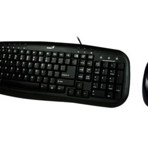 Keyboard & Mouse Genius KM-210, Multimedia, Spill resistant, Black