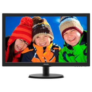 "Philips ""223V5LHSB"", Black (1920×1080, 5ms, 250cd, LED10M:1, HDMI, D-Sub, Headphone-Out)"