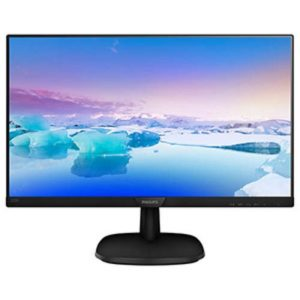 "Philips ""243V7QDAB"", Black (IPS 1920×1080, 5ms,250cd, LED10M:1, D-Sub+HDMI+DVI, Speakers)"