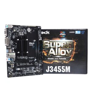 Placa de baza+CPU ASRock J3455M Celeron APOLLO LAKE Quad-Core J3455 2.3GHz 2DDR3 2SATA3 mATX