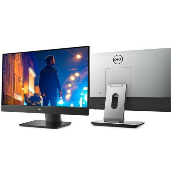 AIl-in-One PC – 23.8″ DELL Inspiron 5477 FHD IPS Infinity non-Touch, Intel¢î Core¢î i3-8100T up to 3.1GHz, 8GB DDR4, 1TB HDD, Intel¢î UHD 630 Graphics, USB-C, Articulating Stand, FHD cam, Wi-Fi-AC/BT4.1, KM636 Wireless KB&MS, Win 10 Pro, Black