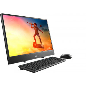 AIl-in-One PC – 23.8″  +W10Pro, Intel¢î Core¢î i3-7130U (DualDELL Inspiron 3477 FHD IPS Core, 2.70GHz, 3MB), 4GB DDR4 RAM, 1TB HDD, no ODD, Intel¢î HD Graphics 620, HD Webcam, Fixed Stand, Wi-Fi-AC/BT4.0, KM636 Wireless KB&MS, Win 10 Pro, Black