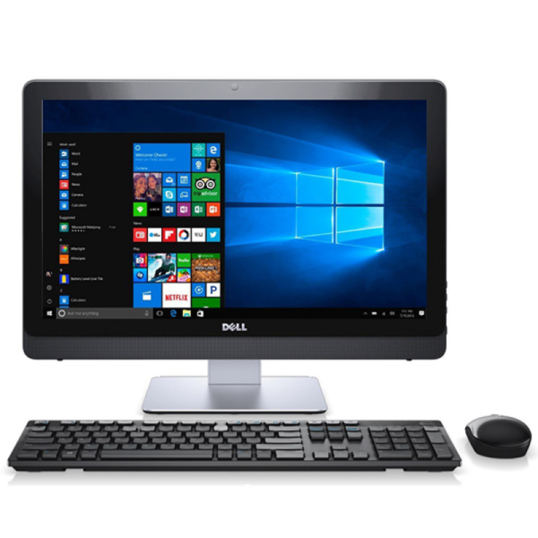 AIl-in-One PC – 21,5″ DELL Inspiron 3277 FHD IPS +W10Pro, Intel¢î Core¢î i3-7130U (Dual Core, 2.7GHz, 3MB), 4GB DDR4 RAM, 1TB HDD, no DVD, Intel¢î HD Graphics 620, HD Webcam, Fixed Stand, Wi-Fi-AC/BT4.1, USB KB&MS, Win 10 Pro EN/RU/RO, White