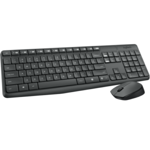 Keyboard & Mouse Logitech Desktop MK 235 Black  Wireless