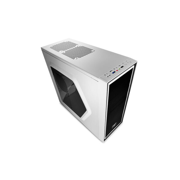 Case ATX Deepcool TESSERACT SW-WH, w/o PSU, White, 2x 12cm Blue LED Fans Motherboards  : ATX/MICRO ATX/MINI-ITX