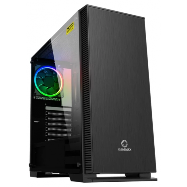 Case ATX Gamemax AURORA W901, Transparent side panel, PWM Hub 0.6mm Case in black,  Black Chassis inside