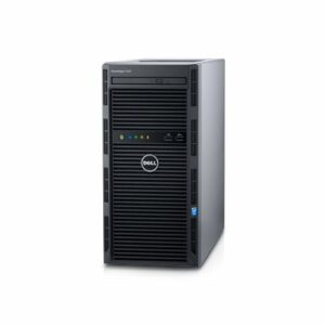 Dell PowerEdge T130 Tower, Intel Xeon E3-1230v6 (3.5GHz, 8M Cache, 4C/8T, 72W), 16GB DDR4 UDIMM, 2TB 7.2K RPM NLSAS HDD (up to 4 3,5″ Cabled HDD), DVD-RW, PERC H330 RAID, iDRAC8 Basic, LAN DP 1Gb, Windows Server 2016 Standard, 290W cabled PSU