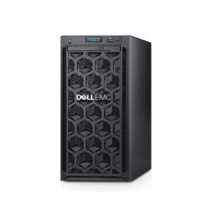 Dell PowerEdge T140 Tower, Intel Xeon E-2124 (3.3GHz, 8M Cache, 4C/4T, 71W), 8GB DDR4 UDIMM RAM, 1TB 7.2K RPM SATA HDD (up to 4 3,5″ Cabled HDD), no ODD, PERC H330 RAID, iDRAC9 Basic, Broadcom 5720 DP 1Gb, TPM 1.2, Single cabled 365W PSU