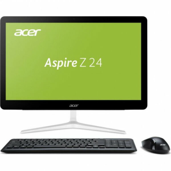 All-in-One PC – 23,8″ Acer Aspire Z24-880 FullHD Multi-Touch +W10H(DQ.B8UME.003) Intel¢î Core¢î i3-7100T 3,4 GHz, 4GB DDR4 RAM, 256GB M2. SSD, DVD-RW, CR, Intel¢î HD Graphics, Wi-Fi, BT, Gigabit LAN, 135W PSU, Win10H SL Ru, Wireless KB/MS, Black/Silver