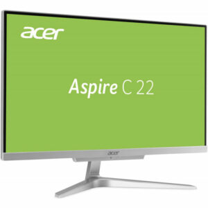 All-in-One PC – 21.5″  ACER Aspire C22-860 FullHD +W10H (DQ.BAEME.008) Intel¢î i3-7130U, 2,7GHz, 4GB DDR4 RAM, 128GB SSD+1TB HDD, no ODD, CR, Intel¢î HD Graphics, HD webcam, Wi-Fi-AC/BT4.0, GigaLAN, 65W PSU, Win10H SL, Wireless KB/MS