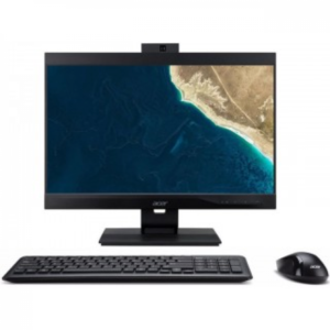 All-in-One PC – 21.5″ ACER Veriton Z4660G FHD IPS Intel¢î Pentium¢î G5400 3.7GHz, 4GB DDR4, 500GB HDD, CR, Intel¢î UHD 610, VGA, DP, USB-C, M.2 Slot, COM-port, VESA, 180¡ë Adjustable 2MP FHD cam, Wi-Fi-AC/BT5.0, USB KB&MS, Endless OS, Black