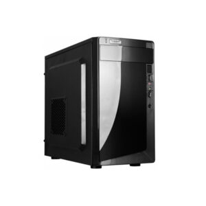 HPC D-03  mATX Case, (500W, 24 pin, 2xSATA, 12cm fan), 2xUSB2.0 / HD Audio, Shiny Black