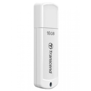 "16GB USB2.0 Flash Drive Transcend ""JetFlash  370"", White, Classic Cap (R/W:18/6MB/s)"