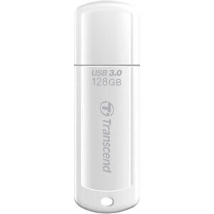 "128GB  USB3.1 Flash Drive Transcend ""JetFlash  730"", White Classic Cap (R/W:90/40MB/s)"