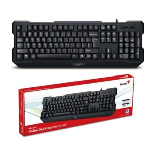Keyboard Genius KB-210, Spill resistant, Ergonomic, Black, USB – http://us.geniusnet.com/product/kb-210
