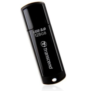 USB Flash Drive 128GB Transcend JetFlash  700 USB3.1 Black Classic Cap (R/W:90/40MB/s)