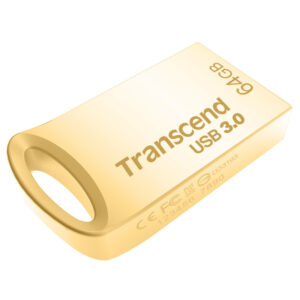 USB Flash Drive 64GB Transcend JetFlash 710G USB3.1 Flash Drive Gold Ultra-Slim (R/W:90/40MB/s)