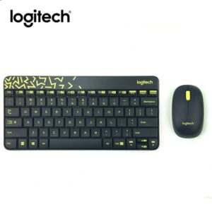 Logitech Wireless Desktop MK240 Nano USB, Keyboard + Mouse, 2.4GHz nano USB receiver, Black/Chartreuse Yellow, Retail