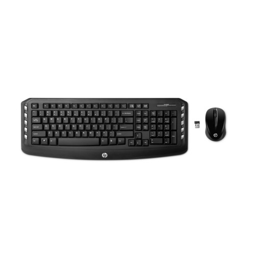 HP Wireless Classic Desktop (A classic-style advanced 2.4 GHz wireless keyboard and mouse), Black