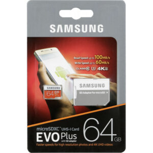 Micro SDHC Card 64GB Samsung EVO Plus C10 MB-MC64GA