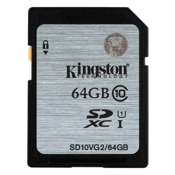 SD Card 64GB Kingston SD10VG2 C10 UHS-I   300x Up to: 45MB/s SD10VG2/64GB