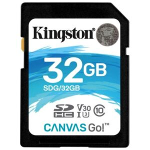 SD Card 32GB Kingston Canvas Go Ultimate C10 UHS-I U3   633x Read: 90Mb/s Write: 45Mb/s SDG/32GB
