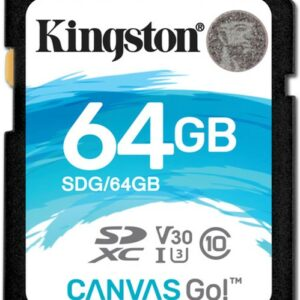 SD Card 64GB  Kingston Canvas Go Ultimate C10 UHS-I U3  633x Read: 90Mb/s Write: 45Mb/s SDG/64GB