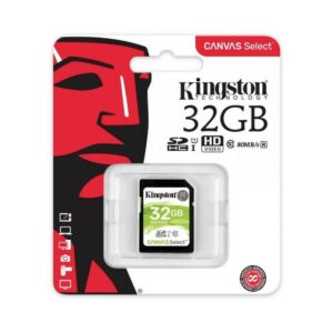 SD Card 32GB Kingston Canvas Select C10 UHS-I 400x Up to: 80MB/s SDS/32GB
