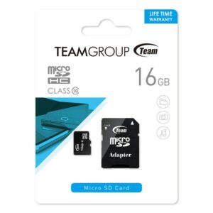 Micro SDHC Card 16GB Team adapter C10 TUSDH16GCL1003