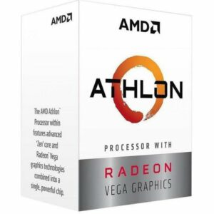 CPU AMD Athlon 200GE 3.2GHz (2C/4T, L2 1MB, L3 4MB, SAM4, 14nm, Integrated Radeon Vega 3 Graphics, 35W) Box