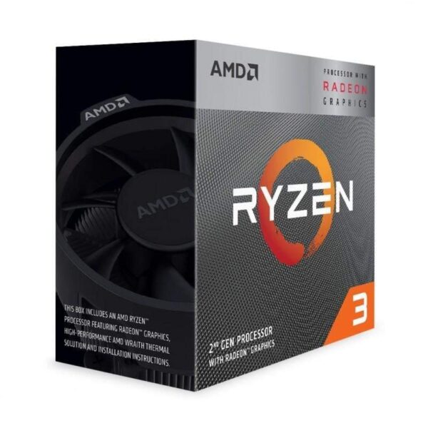 CPU AMD Ryzen 3 3200G 3.6-4.0GHz (4C/4T, L2 2MB, L3 4MB, SAM4, 12nm, Integrated Radeon Vega 8 Graphics, 65W) Box