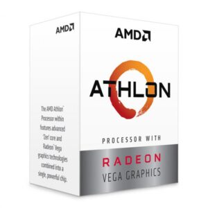 APU AMD Athlon 3000G (3.5GHz, 2C/4T, L2 1MB, L3 4MB, 14nm, Vega 3 Graphics, 35W), Socket AM4, Box